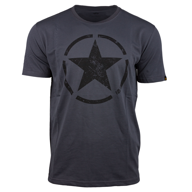 Alpha Industries T-Shirt Star T grau