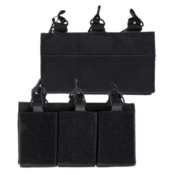 Mil-Tec Magazintasche Triple mit Klettrücken schwarz