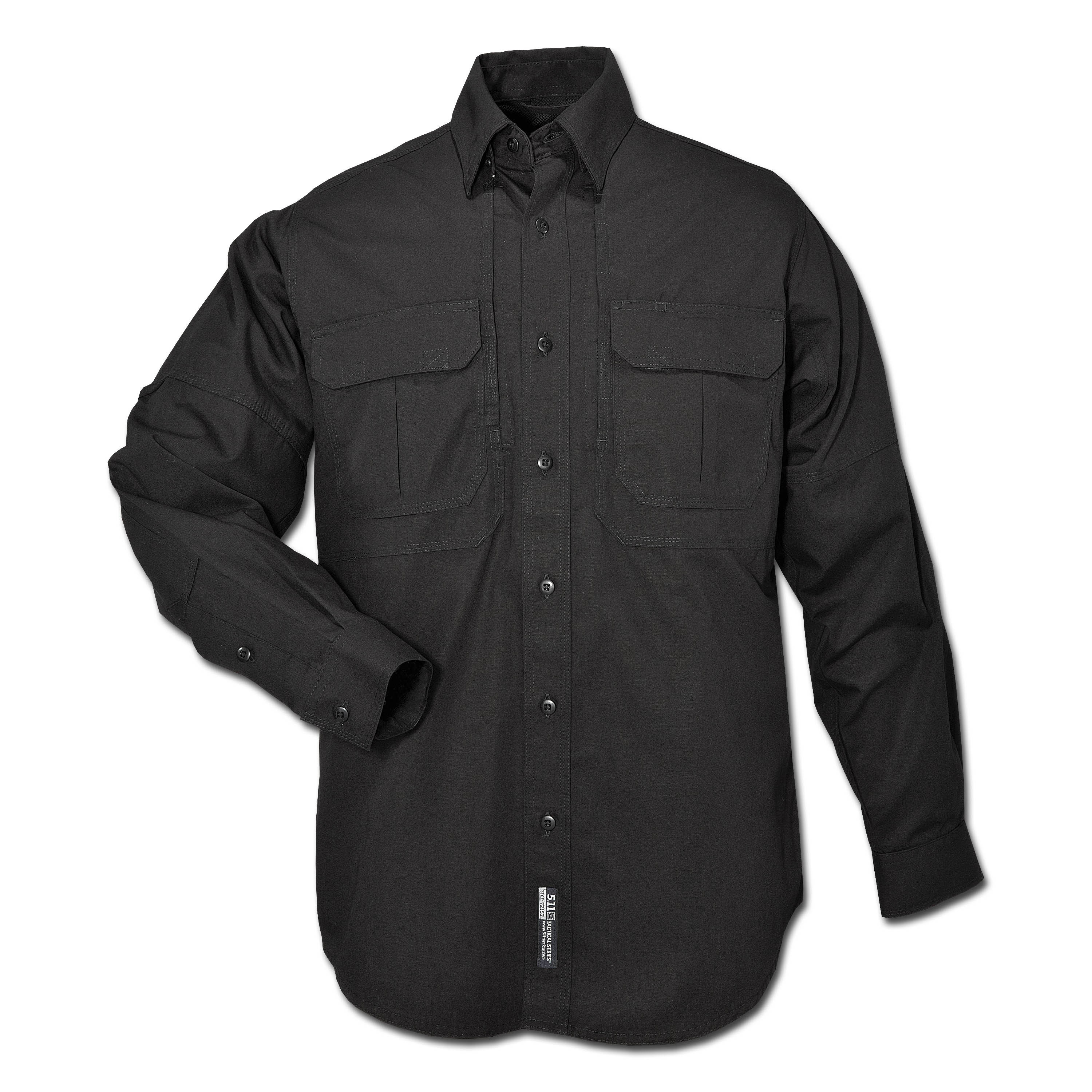 5.11 Tactical Shirt Langarm Cotton schwarz
