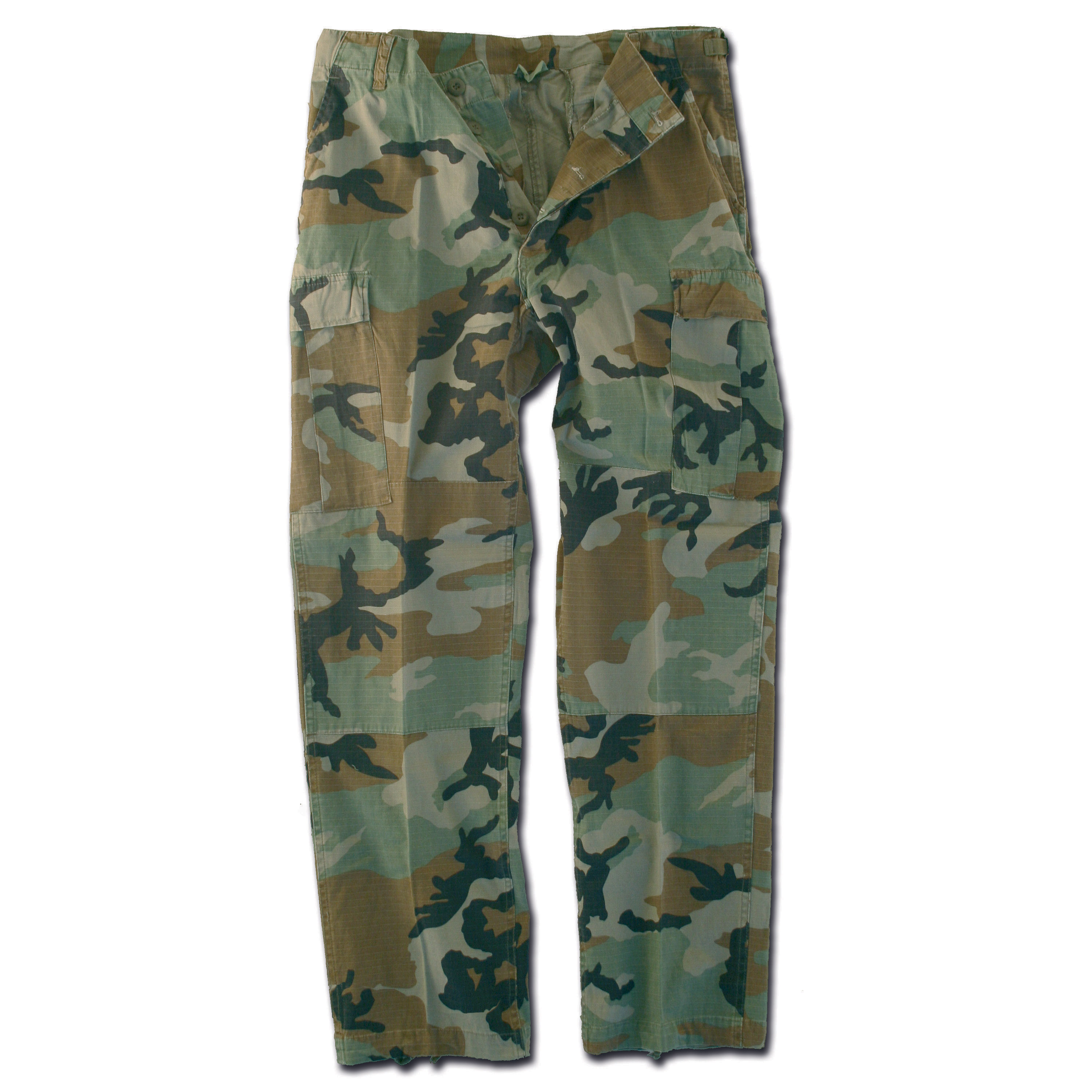 Hose BDU Style woodland Ripstop washed