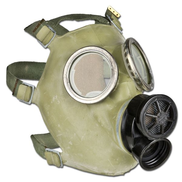 Polnische ABC-Schutzmaske mit Tasche Moro gebraucht