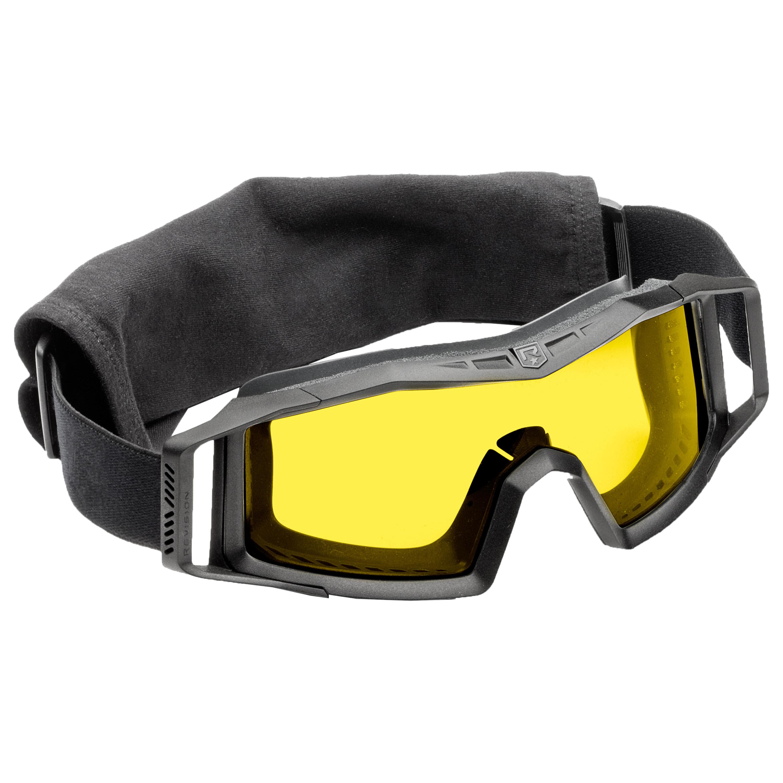 Revision Brille Wolfspider Basic schwarz gelbes Glas