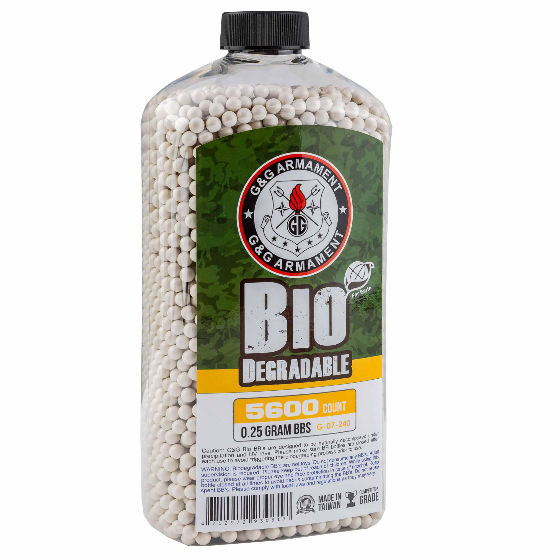 G&G Bio Airsoft BBs 6 mm 0.25 g 5600 Stück weiß