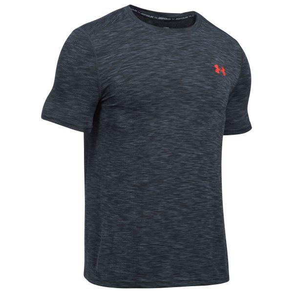 Under Armour Fitness Shirt Threadborne grau rot