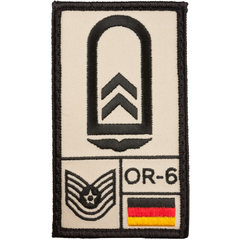 Café Viereck Rank Patch Oberfeldwebel Luftwaffe sand