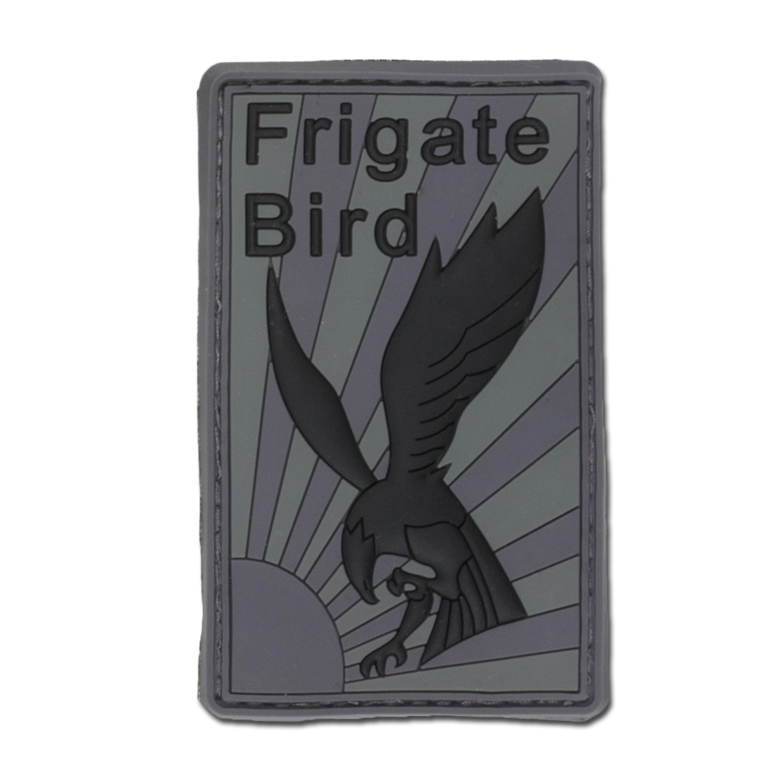 3D-Patch Frigate Bird grau/schwarz