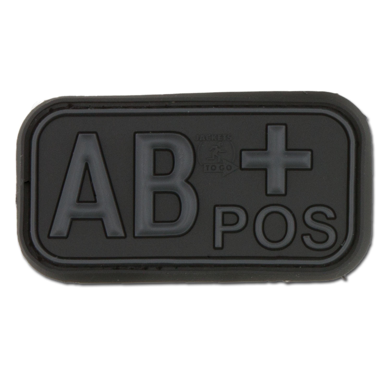 3D Blutgruppenpatch AB Pos blackops