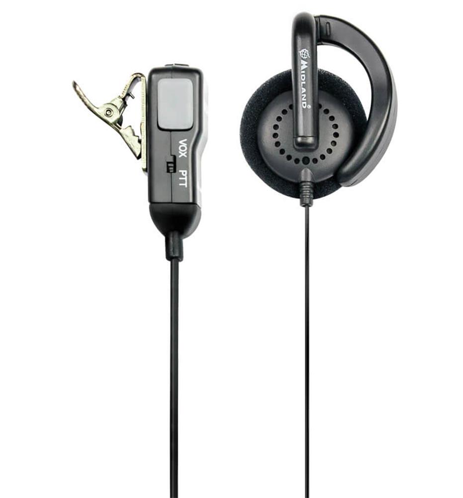 Midland Headset MA 24-L Clip Duoklinke 90 Grad Stecker L-Type