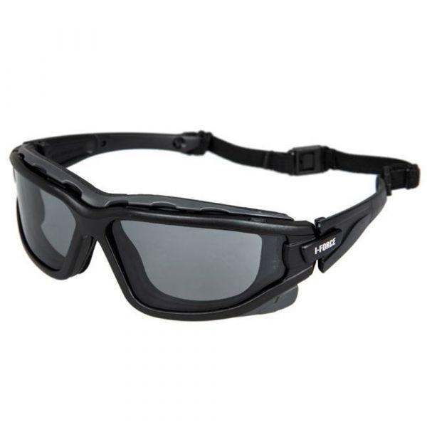 Pyramex Schutzbrille I-Force Gray Antifog Glasses schwarz