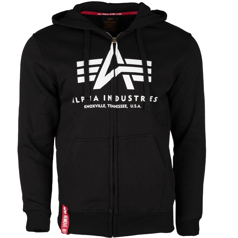 Alpha Industries Hoodie Basic Zip schwarz