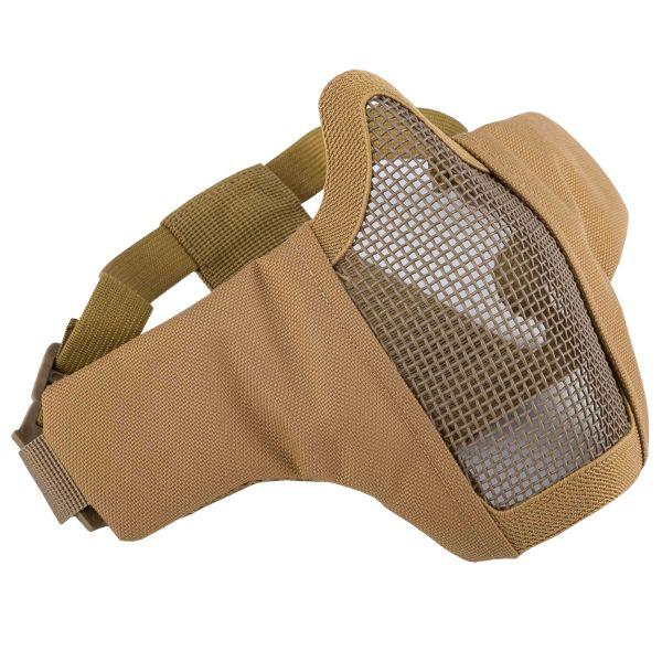 Invader Gear Gittermaske Mk.II Steel Half Face Mask tan