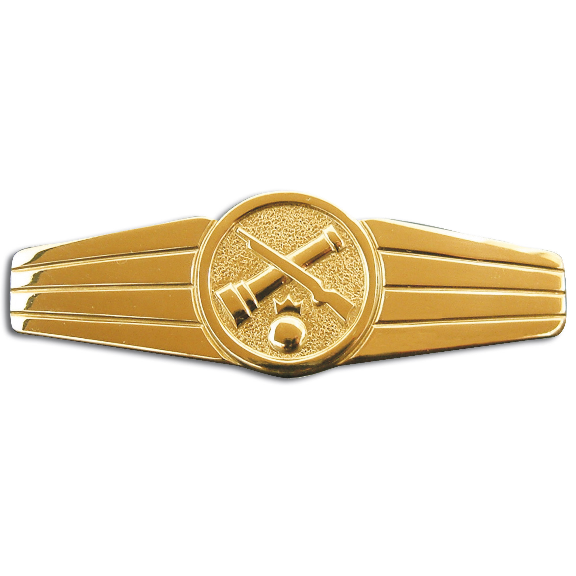 Abzeichen BW Rohrwaffenpersonal Metall gold