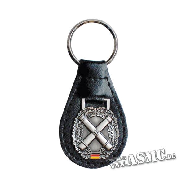 Schlüsselanhänger mit Barettabzeichen Artillerie