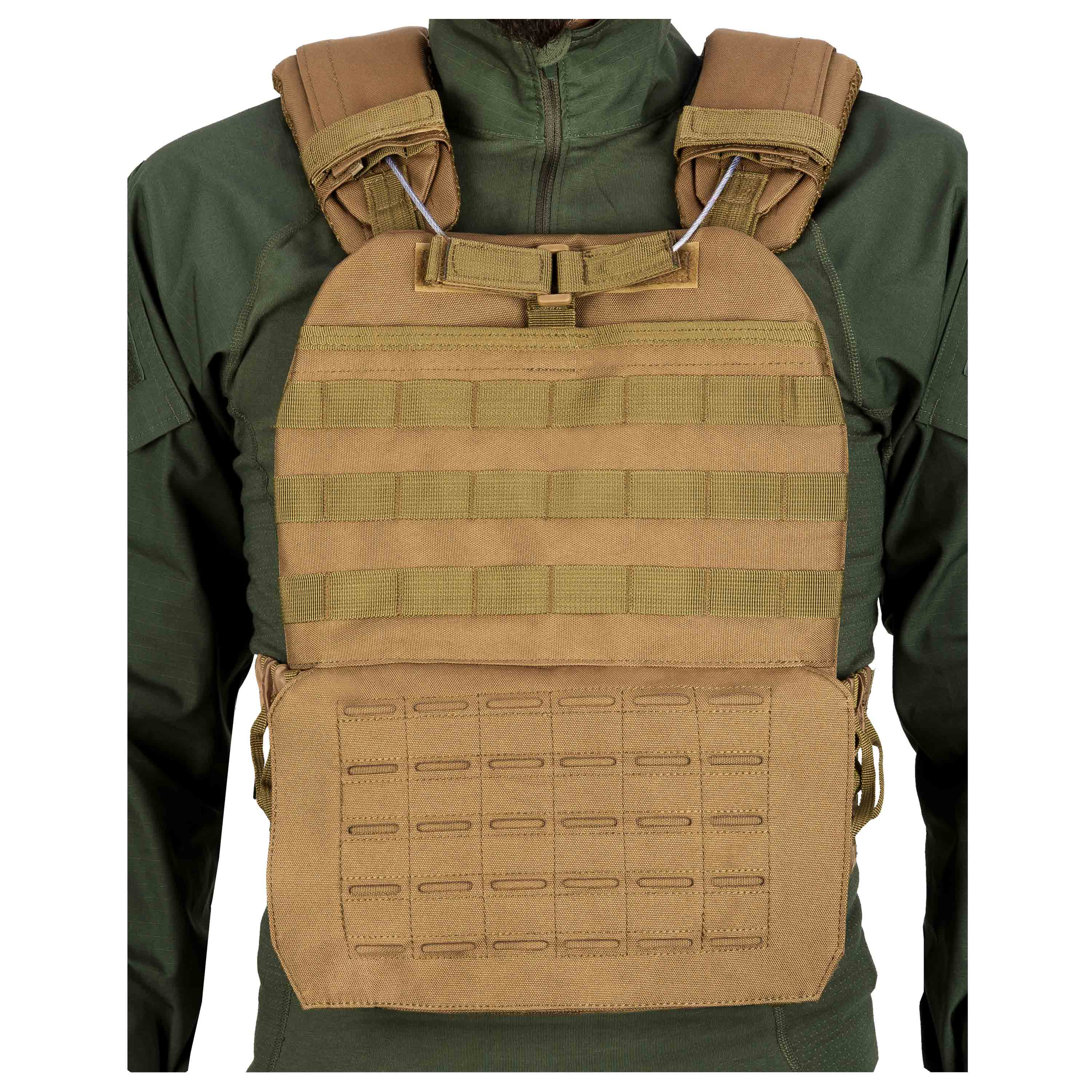 Tactical Weste Laser MOLLE Coyote