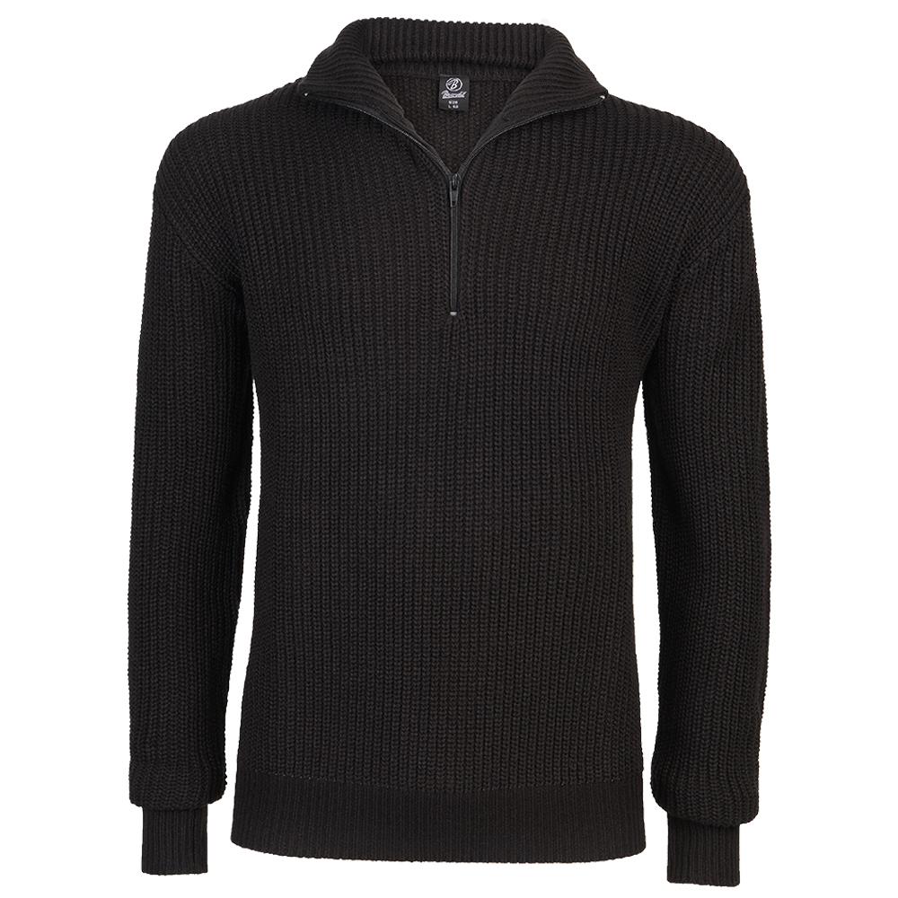Brandit Pullover Marine Troyer schwarz
