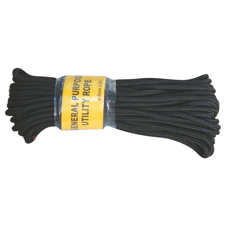 Kommandoseil schwarz 5 mm