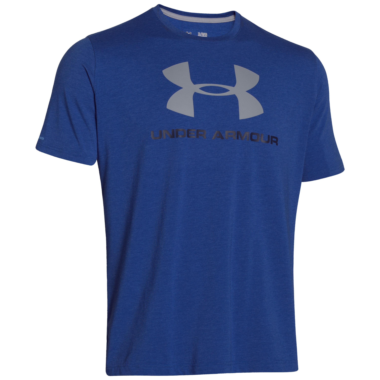 Under Armour Shirt Sportstyle Logo blau weiß