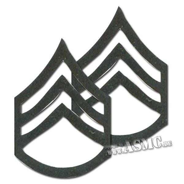 Rangabzeichen Metall US Staff Sergeant subdued