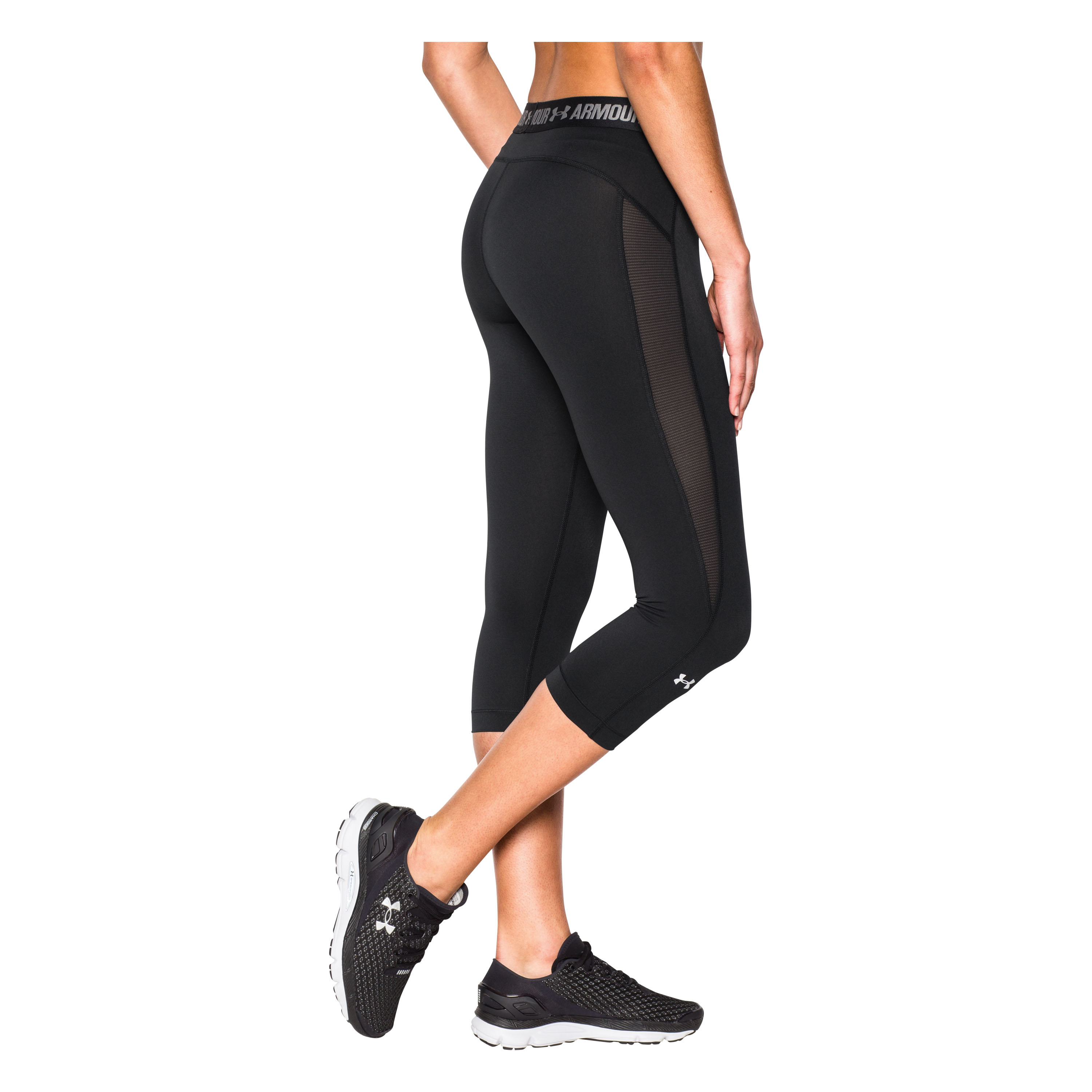Under Armour Women Capri HeatGear CoolSwitch schwarz