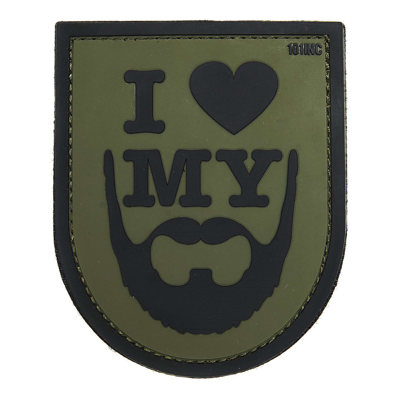 3D Patch I love my Beard grün