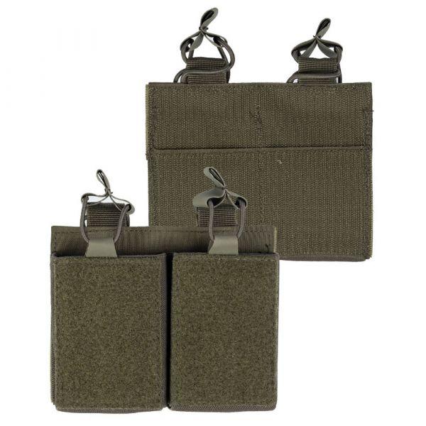 Mil-Tec Magazintasche Double mit Klettrücken oliv