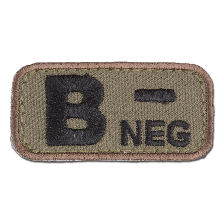 MilSpecMonkey Patch Blutgruppe B Neg forest