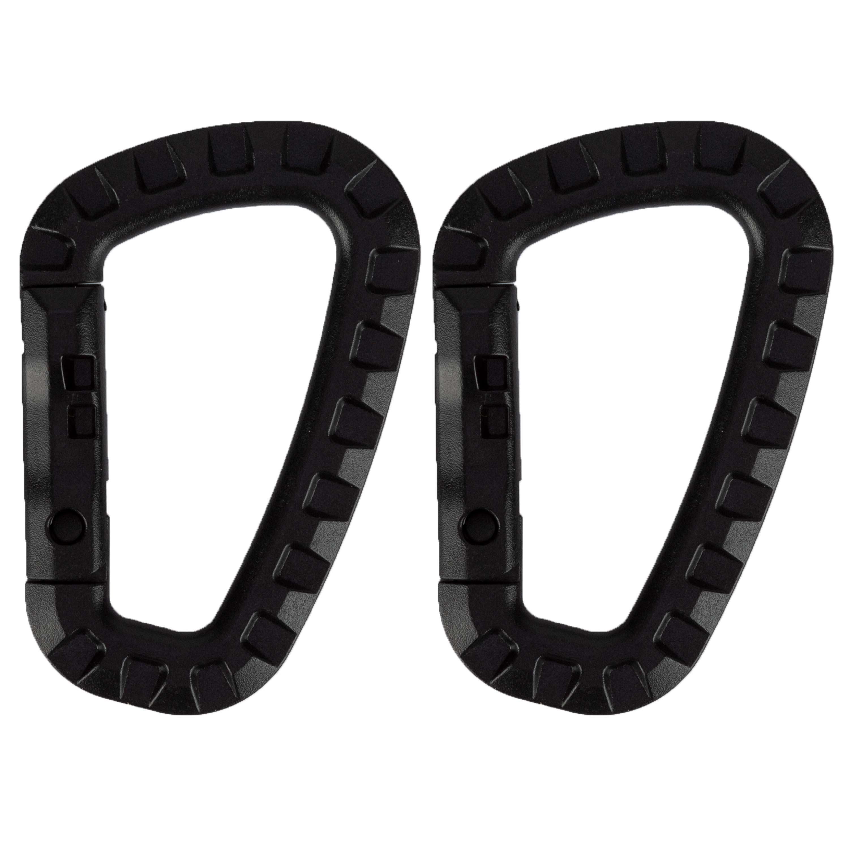 ABS Karabiner Kunststoff schwarz 2er Pack