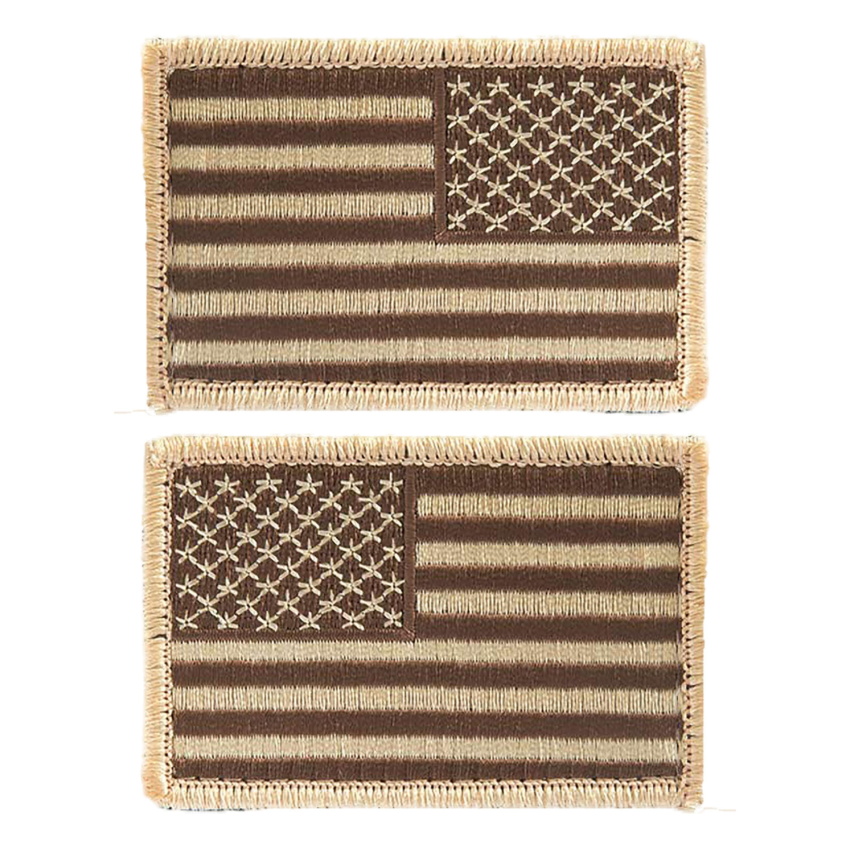 Abzeichen US Flagge m. Klett desert