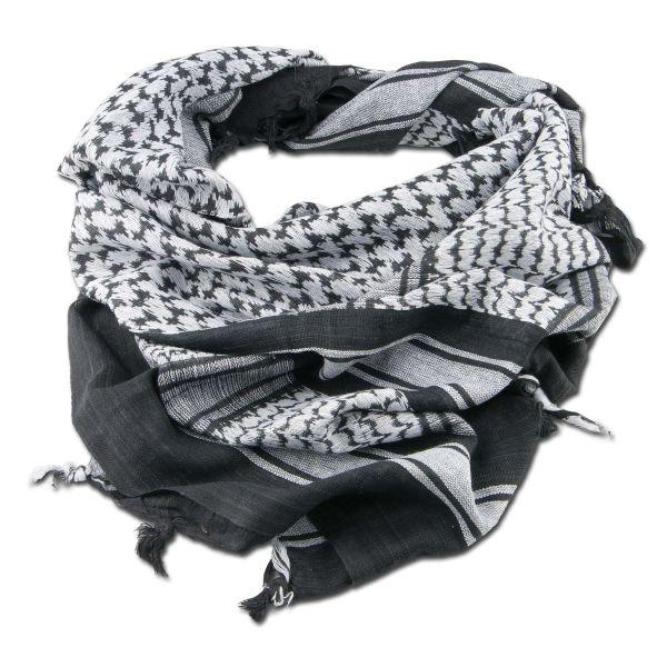 Halstuch Shemagh schwarz/weiß 110 x 110 cm