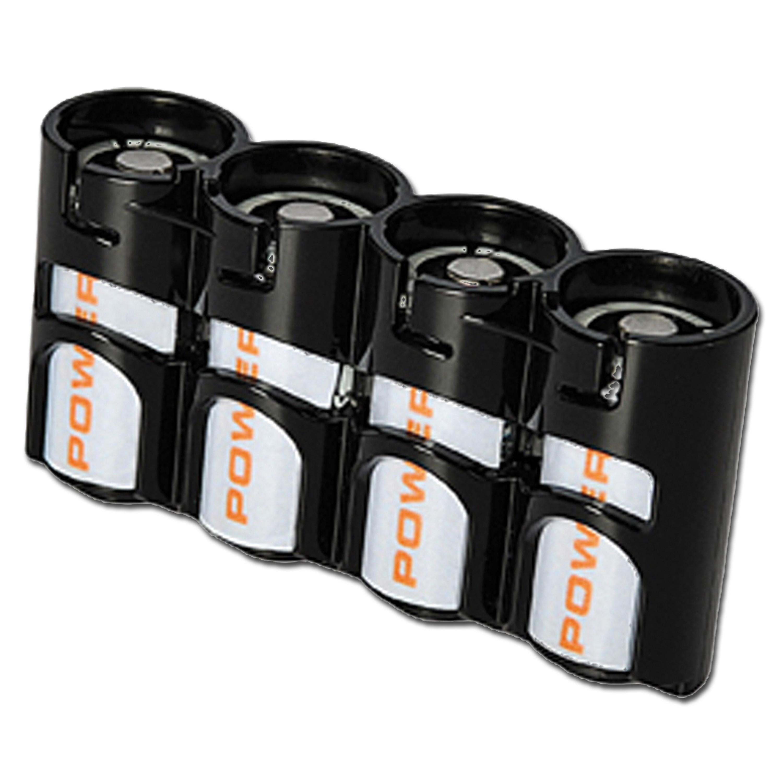 Batteriehalter Powerpax SlimLine 4 x CR123 schwarz