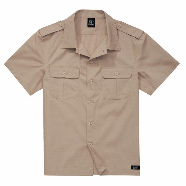 Brandit Shirt US Ripstop Shortsleeve beige