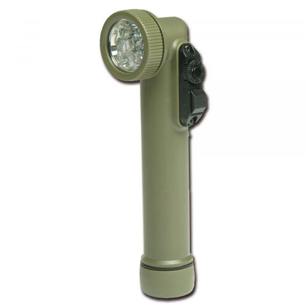 Winkellampe Multi-LED Import klein oliv