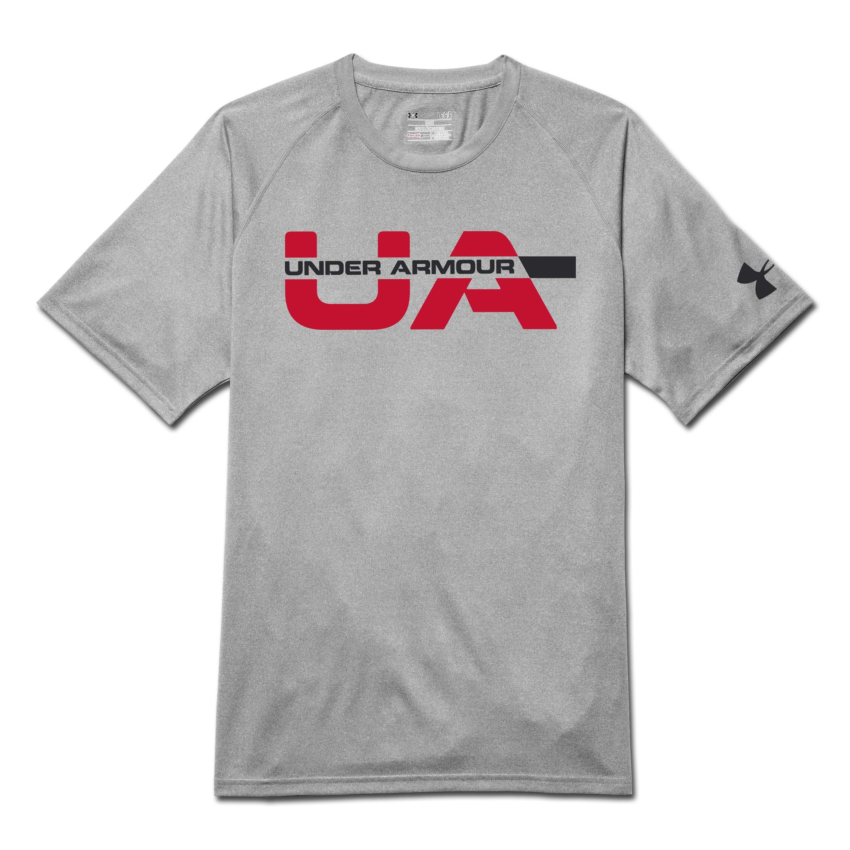 Under Armour Shirt Wordmark Strikethrough grau