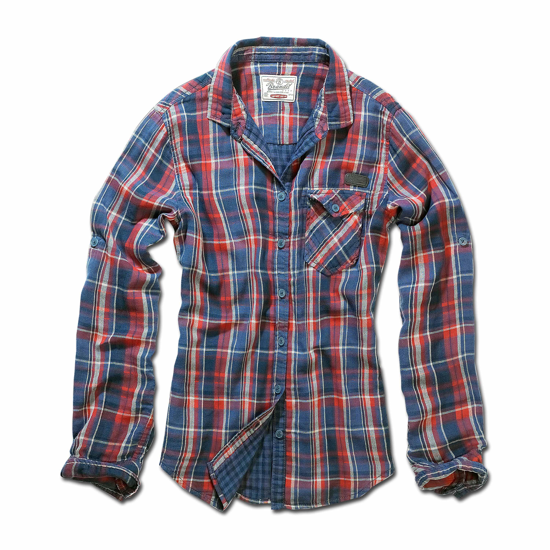 Brandit Checkshirt Kathy rot/blau