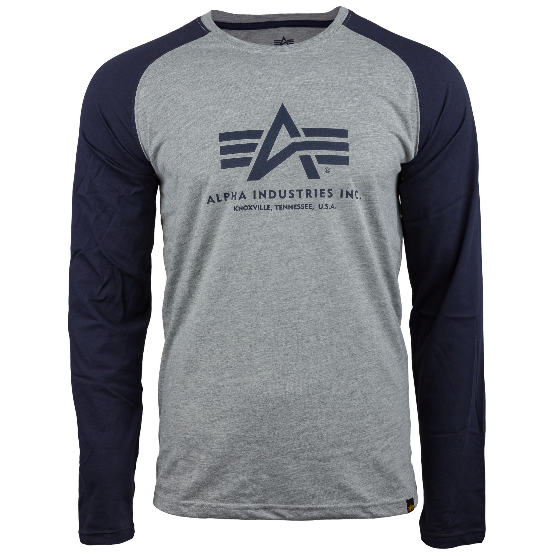 Alpha Industries Langarmshirt Basic blau grau