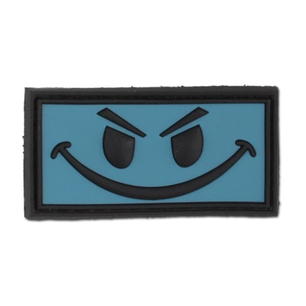 3D-Patch Evil Smiley ice-blue