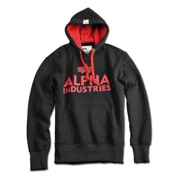 Alpha Industries Pullover Hoodie Foam Print schwarz