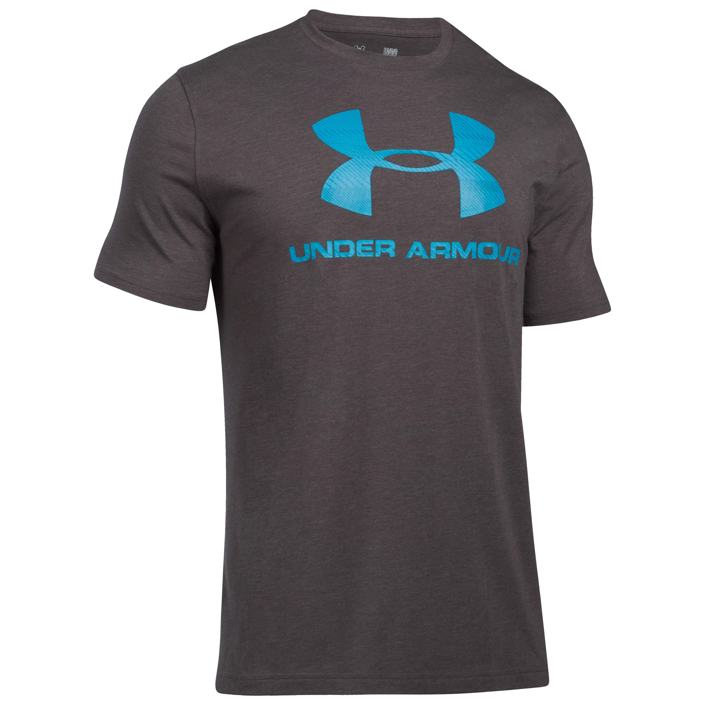 Under Armour Shirt Sportstyle Logo dunkelgrau blau