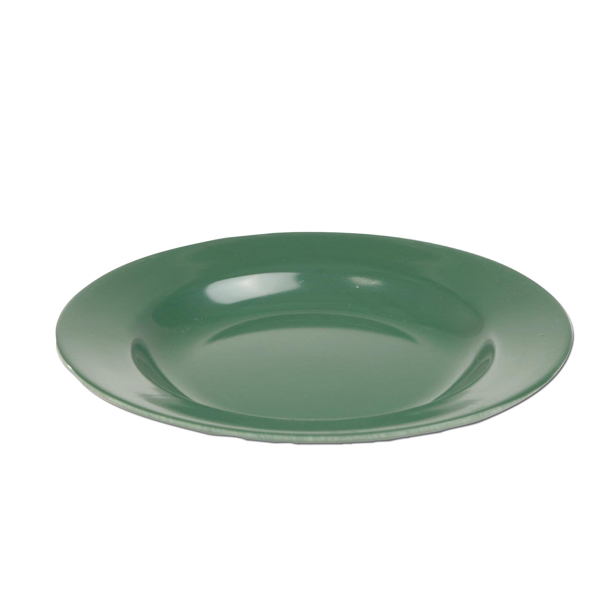 Teller Plastik flach oliv
