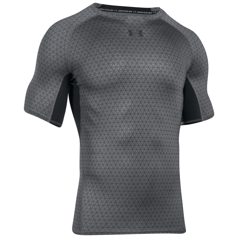 Under Armour Shirt HeatGear Printed grau schwarz