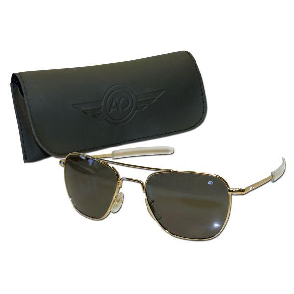 Piloten Sonnenbrille 57 mm gold
