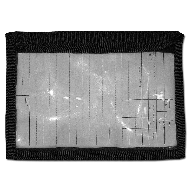 Meldeblocktasche Zentauron mit Klarsichtfeld schwarz