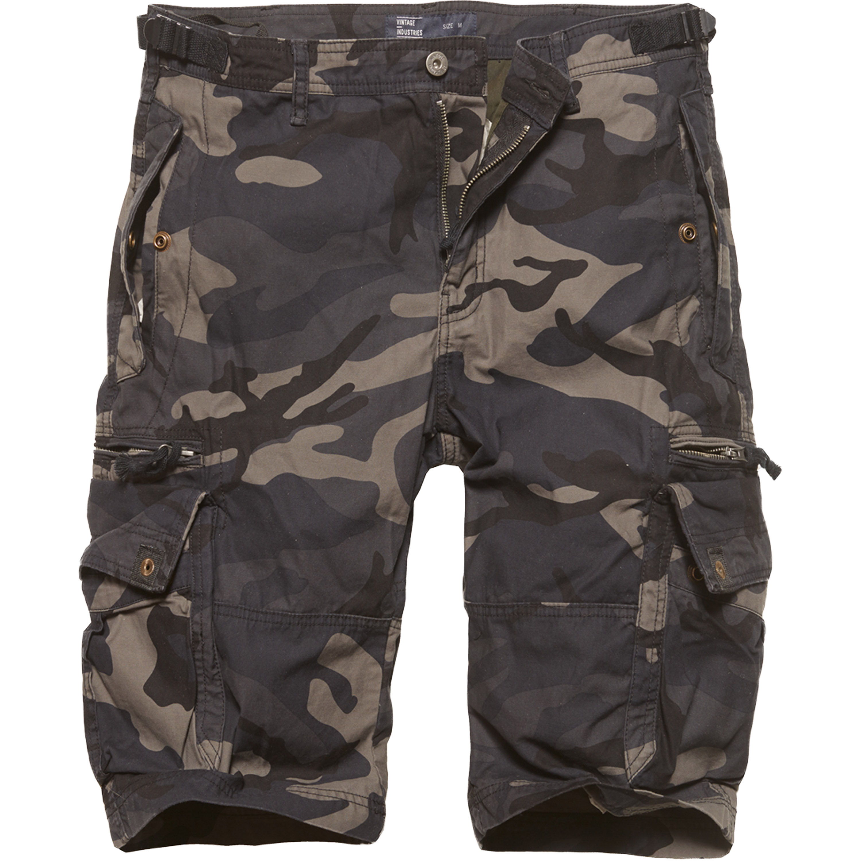 Vintage Industries Shorts Gandor dark camo