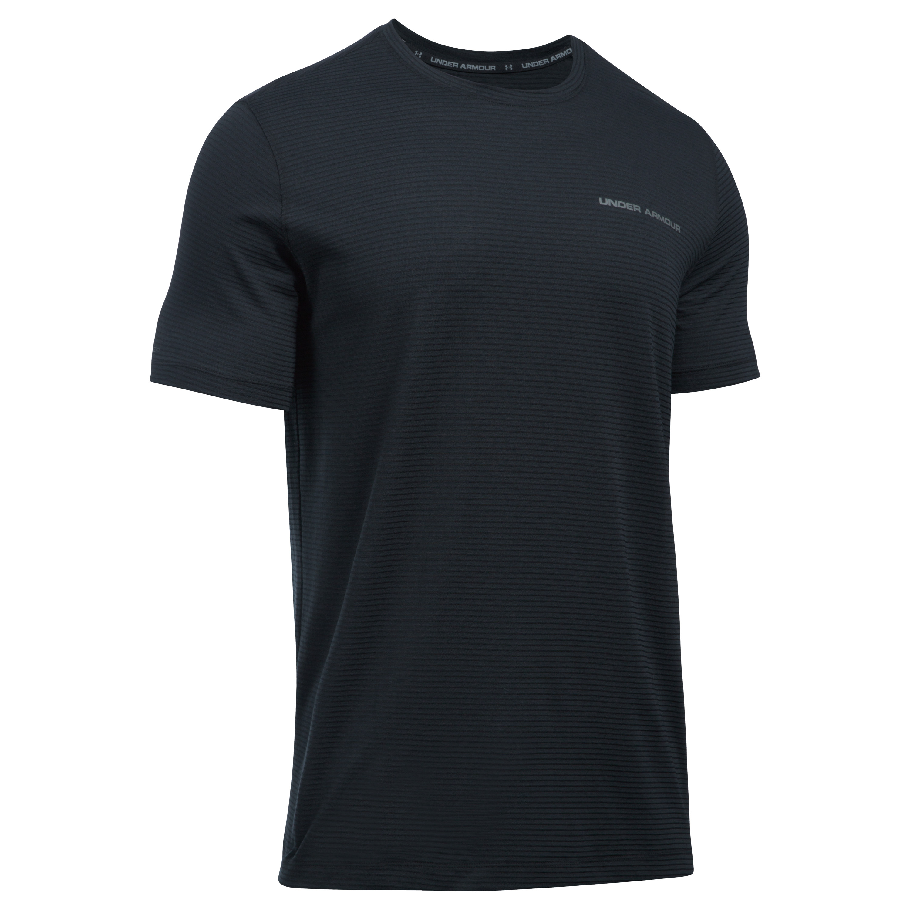 Under Armour Fitness T-Shirt Charged Cotton schwarz graphit