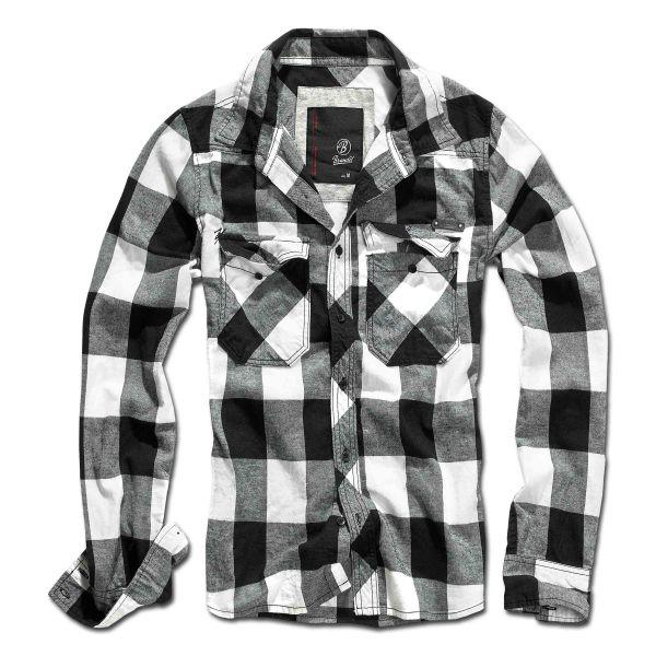 Brandit Checkshirt schwarz weiß