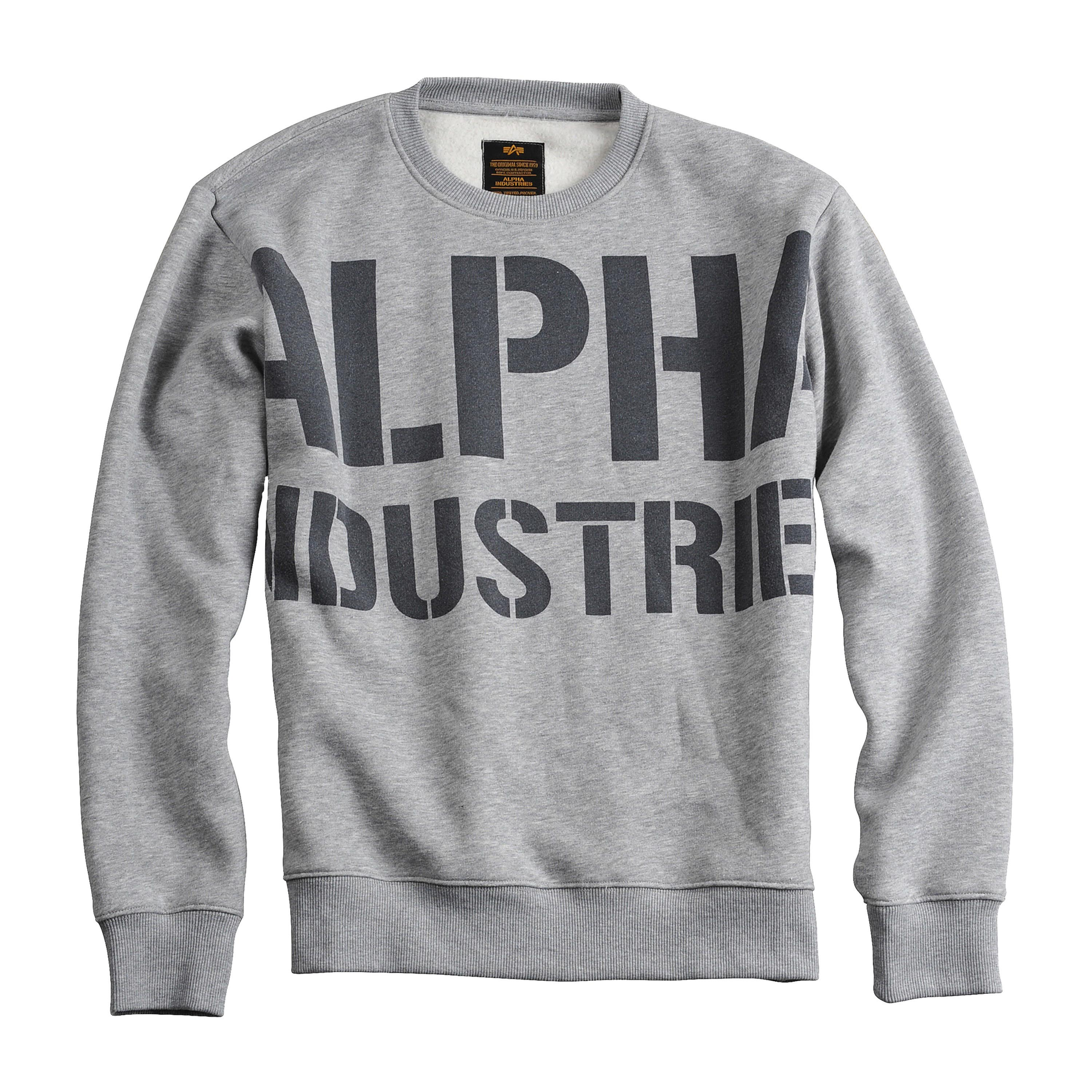 Alpha Industries Pullover All Over grau