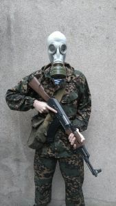 Masque à gaz Russe M41 gris