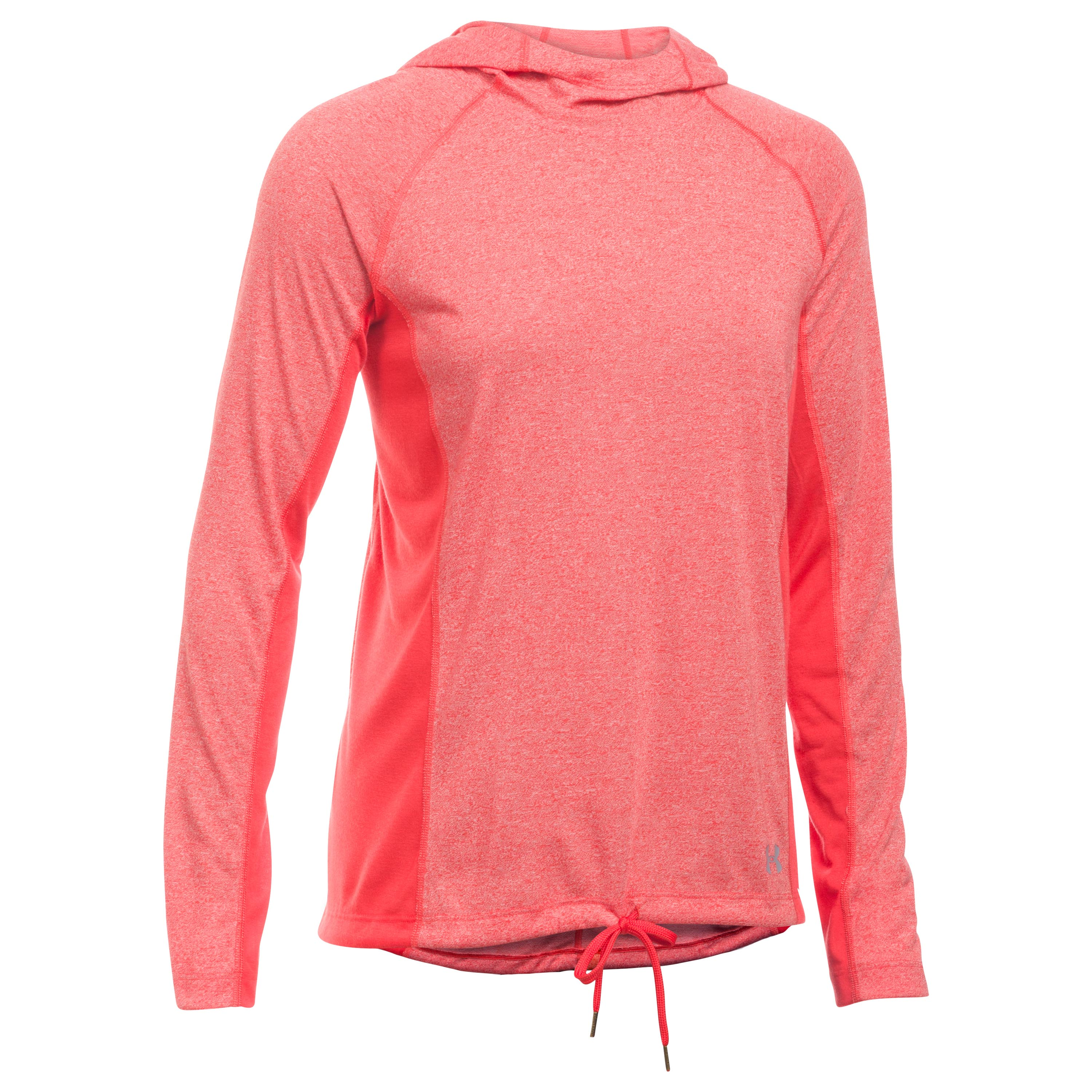 Under Armour Fitness Damen Threadborne Hoodie pink meliert