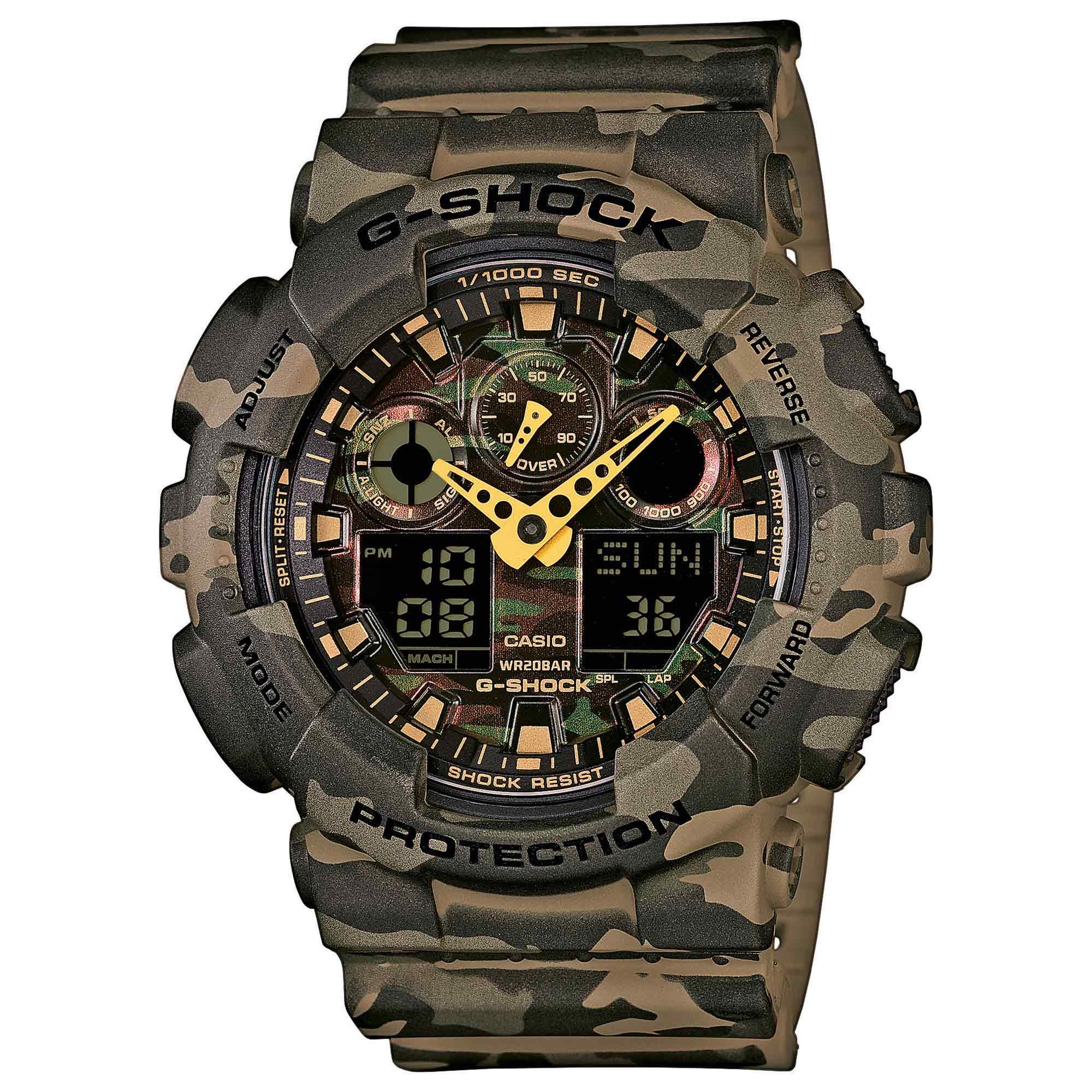 Casio Uhr G-Shock Classic GA-100CM-5AER woodland