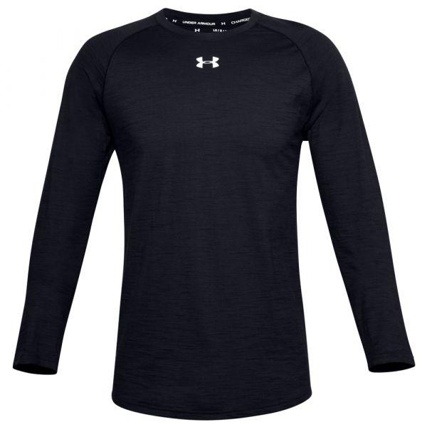 Under Armour Shirt Charged Cotton LS schwarz